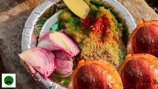 Indian Street Food Tour of Dwarka|| Litti Chokha, Chole Kulche and more