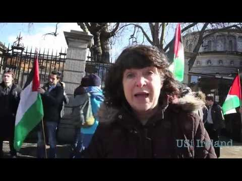 Demonstration calling for end to Irish arms trade with Israel