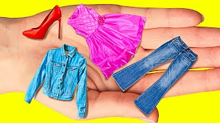 MINIATURE CLOTHES HACKS || Genius Clothes Alteration For Everyone