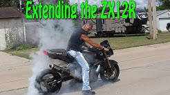 Stretching the ZX12r and test ride!!