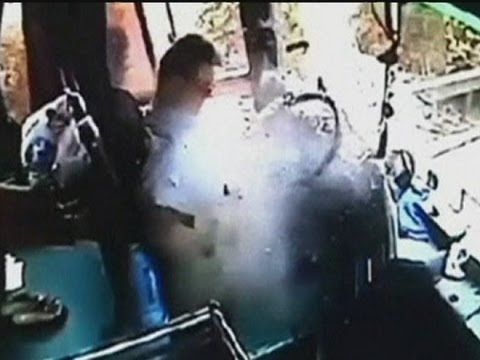 Bus driver hit