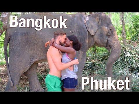 That's an actual elephant...hello Bangkok & Phuket!