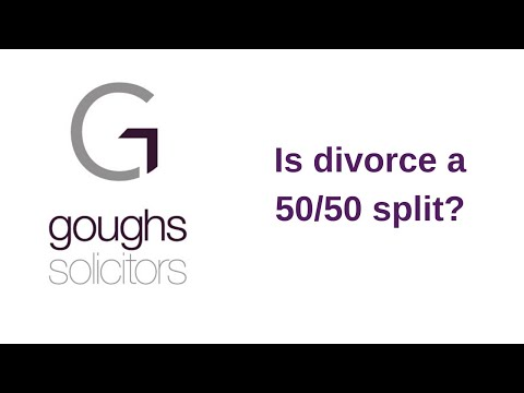 Is divorce a 50/50 split?