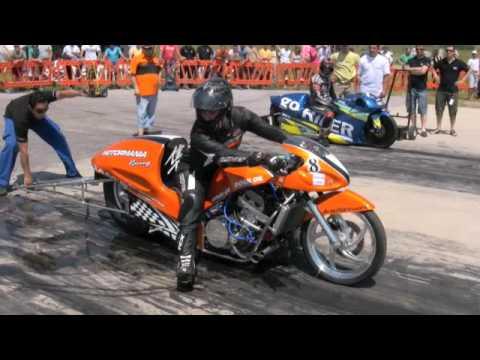 Motormania Racing At Polykastro 2009 Drag Bike Funny Bike Hayabusa