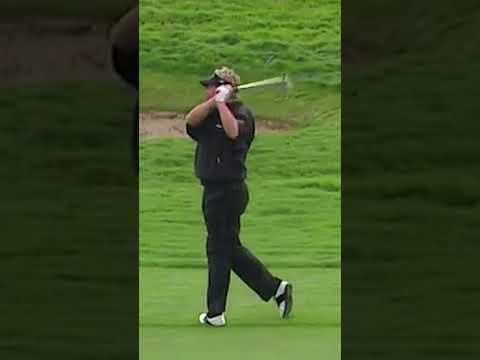 Darren Clarke hits LUCKIEST golf shot ever!