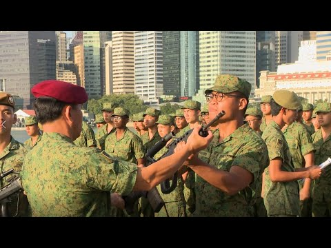 Total Defence Day 2020 Weapon Presentation Ceremony Youtube