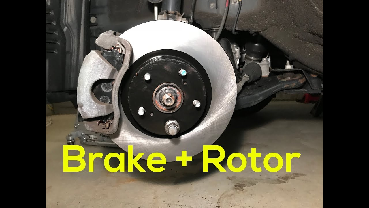 How To Replace Brake Pads And Rotors In Your Car Toyota Rav4 2017 2016
