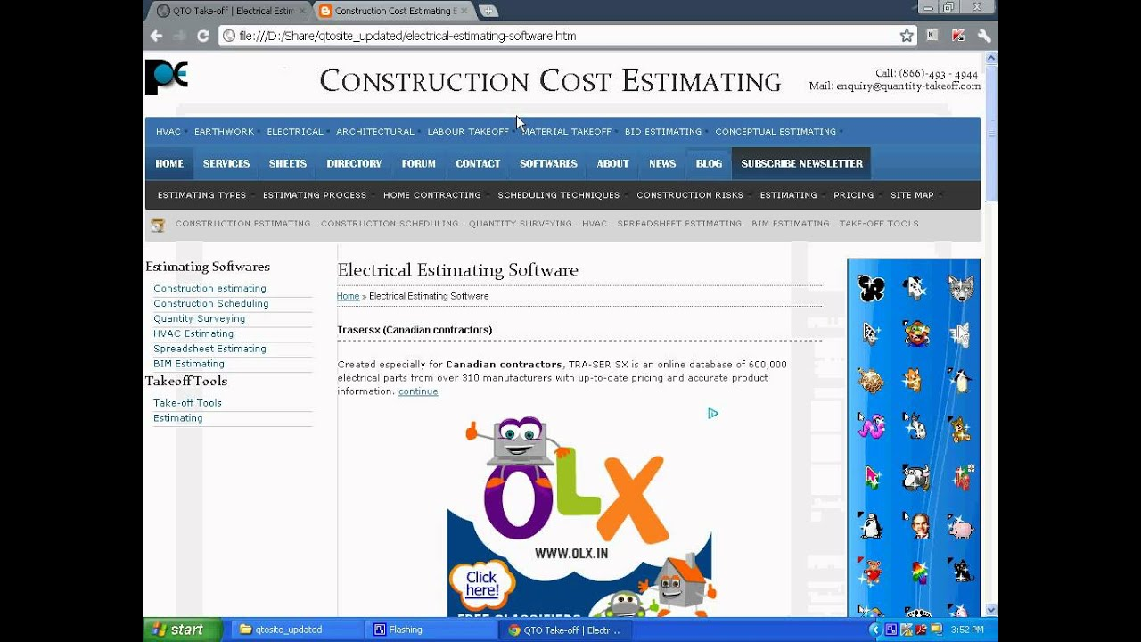 Construction cost estimating and material takeoff youtube for Construction materials cost estimator