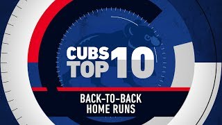 Top 10 Cubs Back-to-Back Home Runs