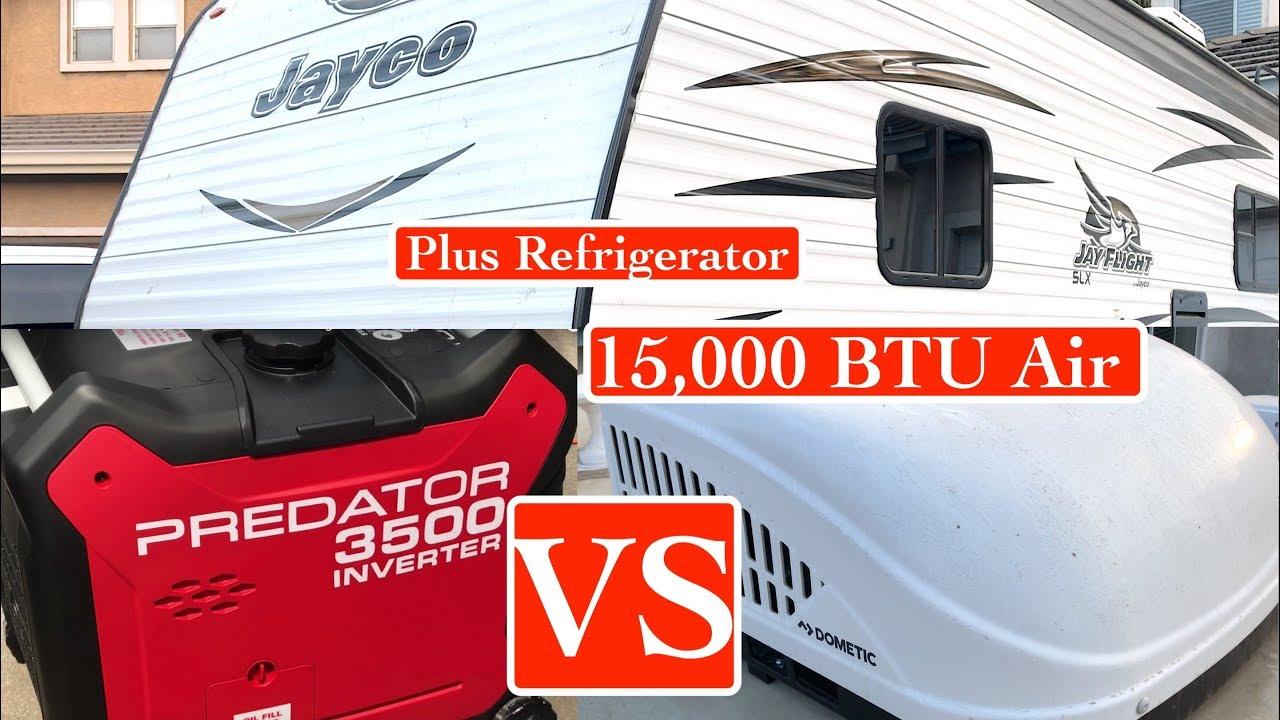 15000 BTU Air Conditioner VS Predator 3500 Generator Running Air  Conditioner & Fridge Simultaneously