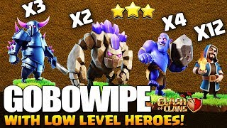 TH9 GOWIPE + BOWLERS with LOW HEROES | GOBOWIPE BEST WAR ATTACK STRATEGY 2019 | Clash of Clans
