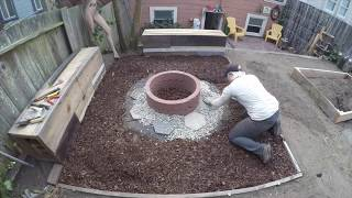DIY Backyard Makeover Timelapse - 2 years in 9 minutes