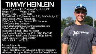 Timmy Heinlein - Baseball Skills Video (Class of 2019)