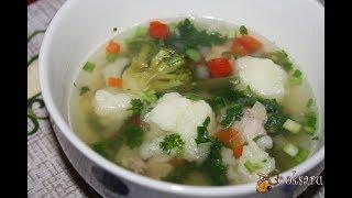 Легкий суп с индейкой и овощами Диетические блюда