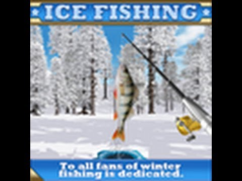 Ice fishing action fish sports game video game youtube for Fishing video games