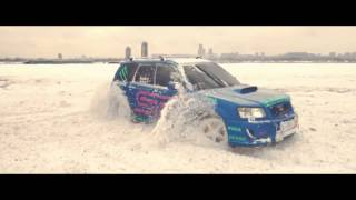 Subaru Sti Drifting In Snow Hd