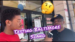 🗣🤔TESTING BALTIMORE SLANG IN BALTIMORE Public Interview!