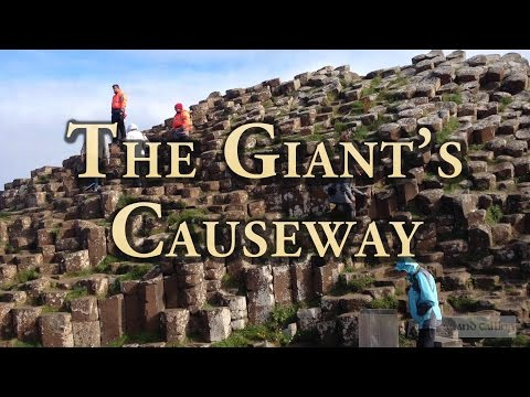 The Giant's Causeway in the north of Ireland