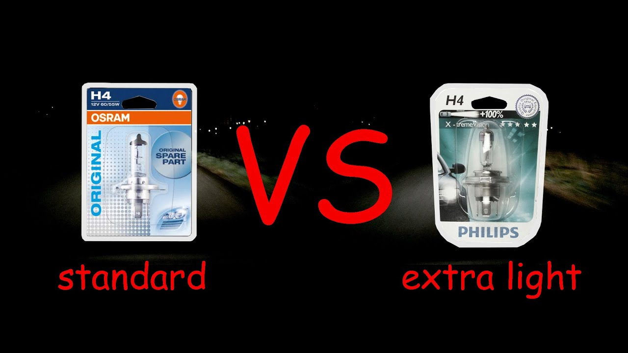 H4 Lamp Philips Prijs Standard Osram H4 Vs Philips Xtreme Vision 43100