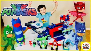 PJ Masks toys collection New PJ Seeker Truck Transforming set Power racers Super moon adventure HQ