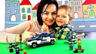 Полицейская машинка ЛЕГО Сборка лего машин Конструктор игрушки для мальчиков