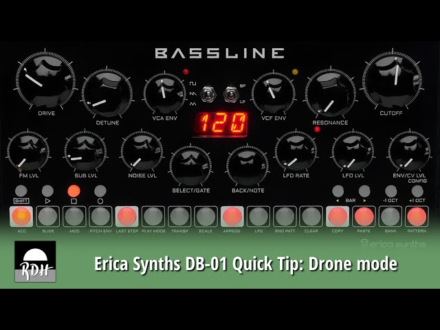 Erica Synths DB-01 Quick Tip: Drone mode