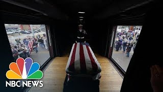 George H.W. Bush's Casket Makes Ride Aboard Train To Final Resting Place | NBC News