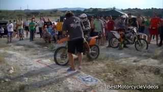 Hill Climb Bulgaria - KTM rider tries to hit people