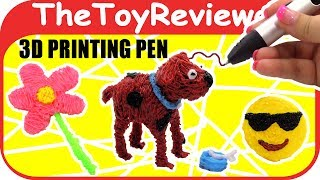 Tipeye 3D Printing Pen Kit Art Emoji Dog Flower Kid Doodle Unboxing Toy Review by TheToyReviewer