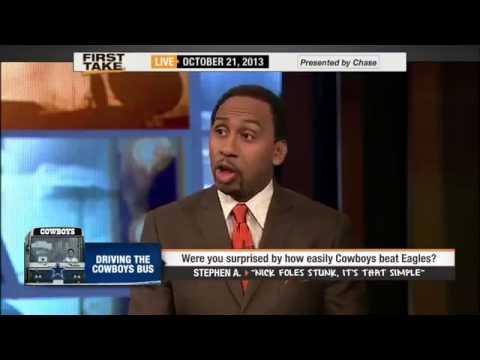 Stephen A  Smith   Nick Foles Stunk Against Cowboys     ESPN First Take