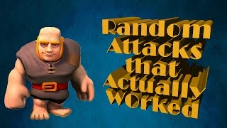 Clash of Clans: Random Attacks that Actually Worked!!!
