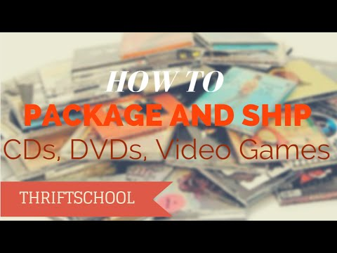 How to Package and Ship CDs, DVDs, Video Games, Media for Amazon FBA and Ebay
