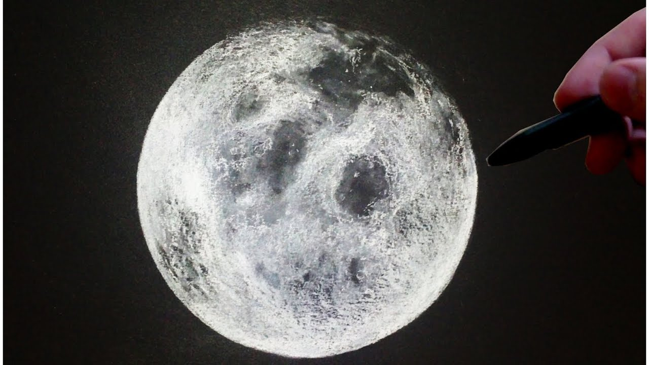 This is a picture of Superb Drawing The Moon