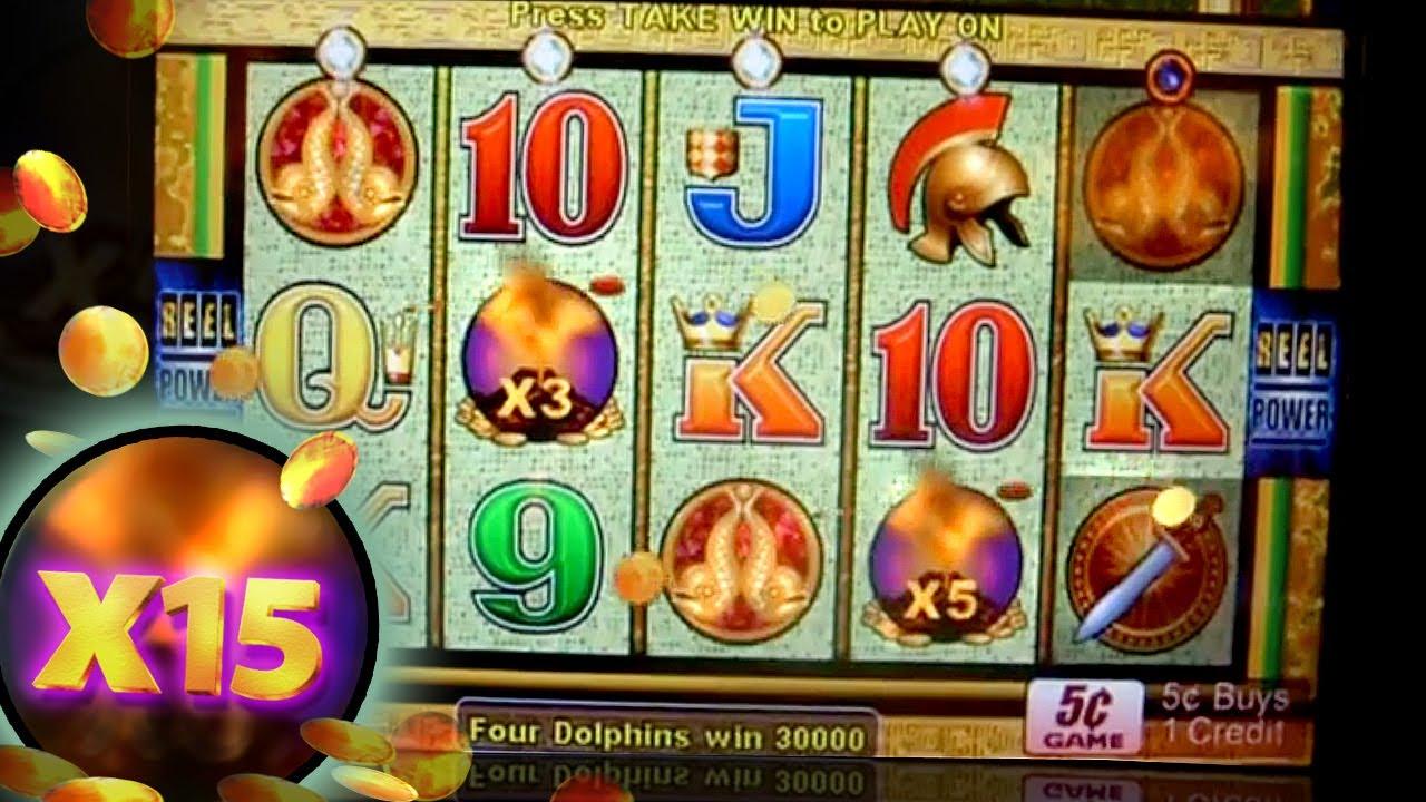 Hit Jackpot On Pompeii 5c Aristocrat Video Slots 15x