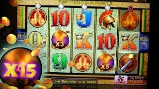 Hit + JACKPOT on Pompeii - 5c Aristocrat Video Slots  15x PAY