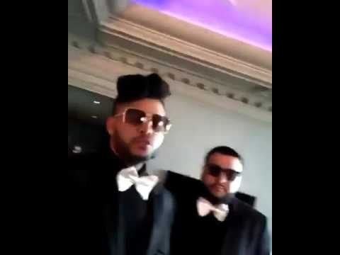 The weeknd and French montana speaking arabic  (2)