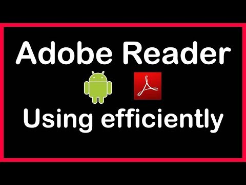 How To Use Adobe Reader On Android Phone