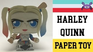 How to Make a Harley Quinn Paper Toy ( Papercraft ) (free template)  By Becks Junkie