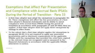 IPSAS 33 —FIRST TIME ADOPTION OF ACCRUAL BASIS