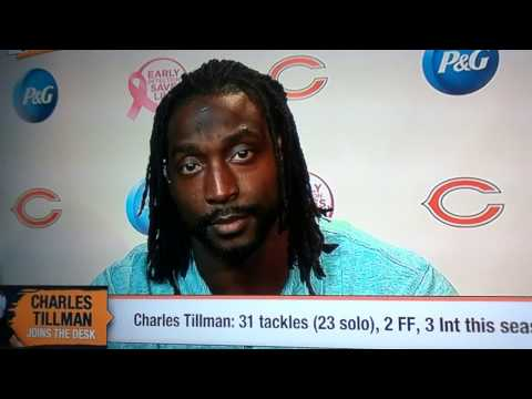 Things get awkward for Cari Champion on First Take w/ Charles Tillman.