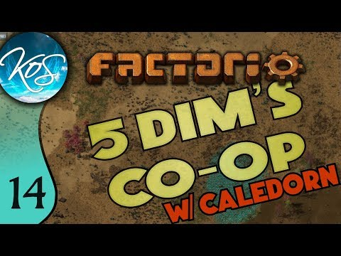 Factorio 5Dim's Co-op Ep 14: RAIDARS OF THE LOST RAILWAY - MP with Caledorn, Let's Play, Gameplay