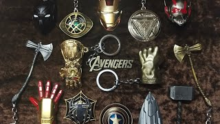 ALL MARVEL KEYCHAINS COLLECTION