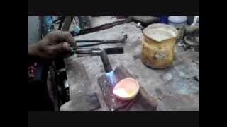 Tutorial Melebur bahan dasar perak untuk pembuatan cincin