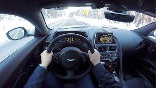 YOU DRIVE The 2018 Aston Martin V12 DB11- POV Drive Part 1 アストンマーチンdb11 検索動画 25