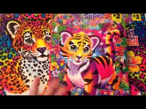 - LISA FRANK COLORING AND ACTIVITY BOOKS WITH STICKERS FROM DOLLAR GENERAL! -  YouTube