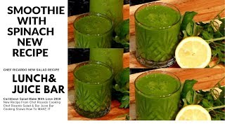SMOOTHIE WITH OATS,SPINACH    BEST RECIPE IN THE WORLD !!