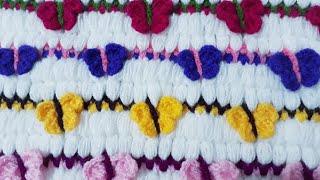 Üç boyutlu Kelebek lif battaniye MODELİ