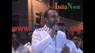 Fiery speech by Feroz Khan from Nampally against AIMIM Party