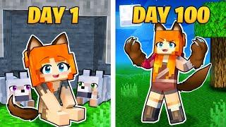 I Survived 100 DAYS as ALPHA WEREWOLF in Minecraft!