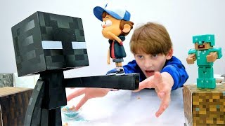 Диппер из Гравити Фолз в мире Майнкрафт. Игры для детей.